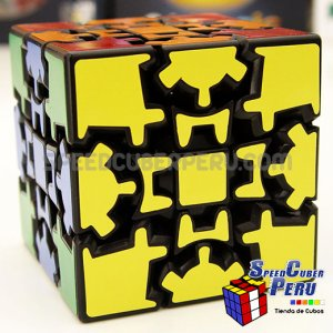 Lanlan 3x3 Gear Cube con Stickers completos