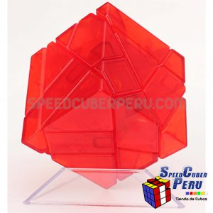 Ninja 3x3 Ghost Cube Transparente Rojo