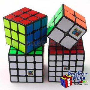 Set o Pack de cubos Moyu MoFangJiaoShi Negro