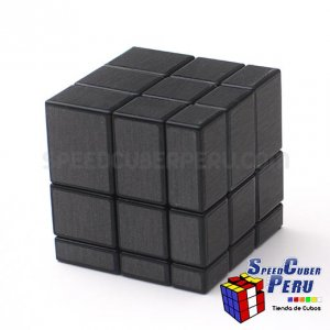 Shengshou 3x3 mirror cubo con fondo negro y stickers negros
